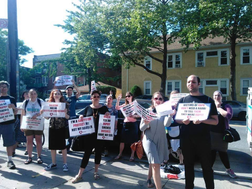 Protesting Agudah's Child Sexual Abuse Enabling Policies